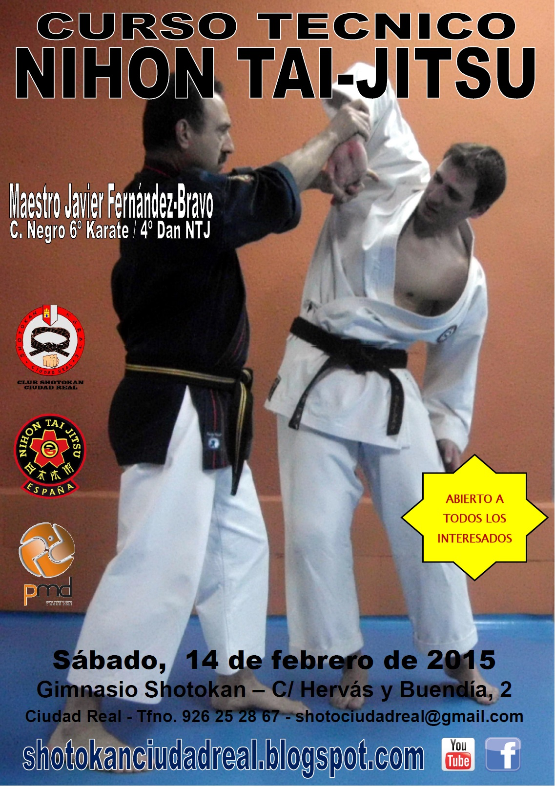 Cartel Curso Regional NTJ 2015 - Ciudad Real 14-02-15
